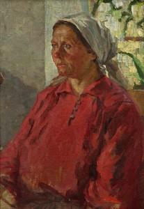 "Г. Ващенко ""Портрет матери"" 1950"